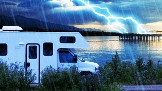 RAIN & THUNDER CAMPING 10 HOURS   Nature Sounds White Noise