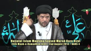 24th Ramadhan 1434AH - Maulana Sayyed Murad Raza Rizvi [Dua-e-Abu Hamza Thumali mein...]