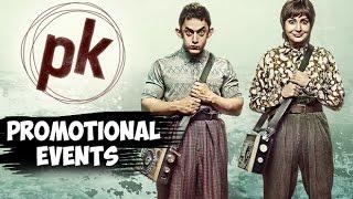 PK Movie (2014) Promotion Events | Aamir Khan, Anushka Sharma, Sushant Singh Rajput