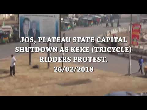 Xxx Mp4 Jos Plateau State Capital Shutdown As Keke Riders Tricycle Ridders Protest 3gp Sex