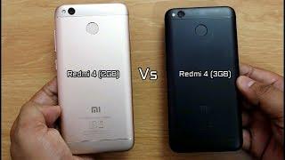 Redmi 4 2 GB VS 3 GB Ram SpeedTest Comparison I Hindi