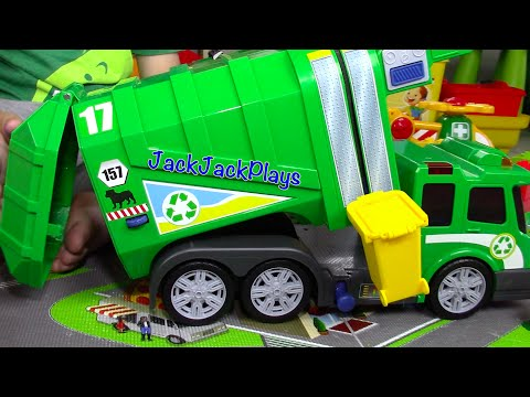 Garbage Truck Videos for Children Recycling Toy UNBOXING Playing LEGOs JackJackPlays