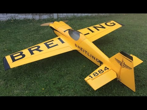 RC Breitling MXS R with Mintor 38cc Engine Red Bull Air Race Nigel Lamb Scheme