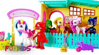 My Little Pony & PJ Masks Tinker Toy Building Play Set with Pony Rides