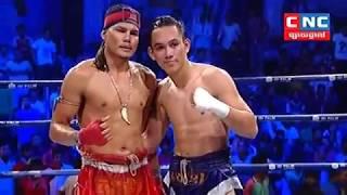 Chhai Sara Cambodia Vs Dinnapho Thailand, Khmer Warrior Boxing CNC TV 12 August 2018