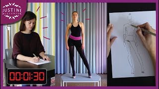 Fashion drawing for beginners: quick-sketching a live model ǀ Justine Leconte