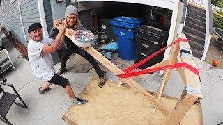 DIY Catapult! (1000 BOUNCY BALLS)