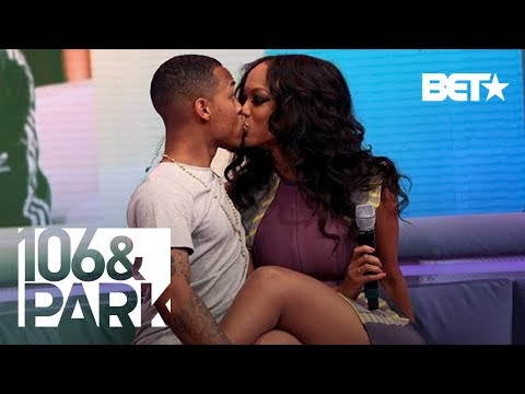 Tyra Banks & Bow Wow Unexpectedly Kiss LIVE 106 & Park