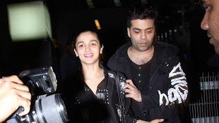 Alia Bhatt Snapped On A Dinner Date With Karan Johar