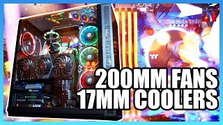 Thermaltake Goes 200mm for Fans, 17mm for Coolers