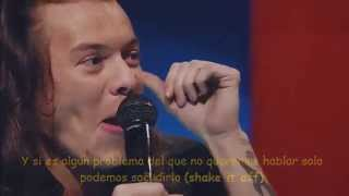 1D LONDON SESSION DAY 1, James Corden asks about 'Perfect' lyrics (SUBTITULADO)