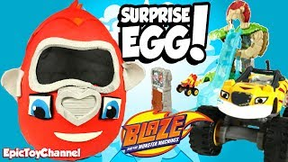 BLAZE WILD WHEELS Giant Surprise Eggs + Surprise Toys Magic from Blaze and the Monster Machines