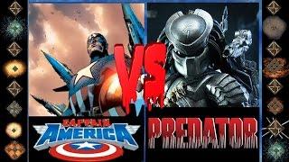 Captain America (Marvel Comics) vs Predtor (Dark Horse Comics) - Ultimate Mugen Fight 2016