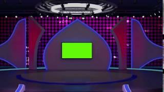 Entertainment+tv+studio+set+virtual+green+screen+background+loop+01