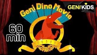 ▶Genikids Dino Movie◀ #22 DINOSAURS Adventure. Full Ver.   Dinosaurs Short Cartoon for Kids