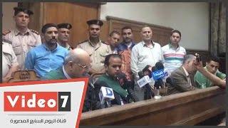 لحظة الحكم على المتهم باغتصاب طفلة البامبرز بإحالة أوراقه إلى المفتى