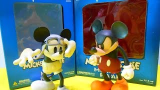 Mickey's Rival & Mickey Mail Pilot Collectible Figurine Statue Doll Disney Medicom Toy Unboxing