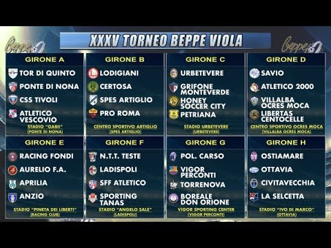 Xxx Mp4 XXXV Torneo Beppe Viola Gli 8 Gironi 3gp Sex