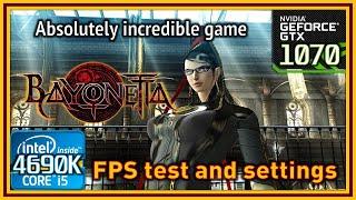 Bayonetta - i5 4690K & GTX 1070 - FPS Test and Settings (+Antialiasing fix & tips)