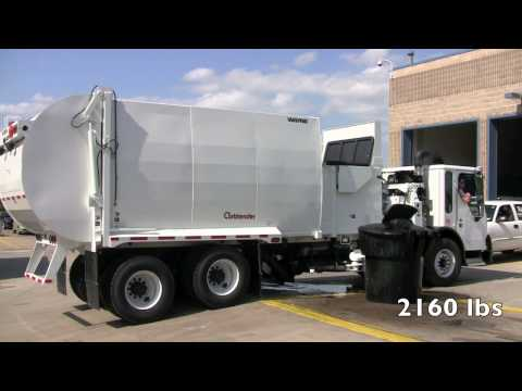 Curbtender Strength Test Garbage Truck Lifts 2 160 Pounds