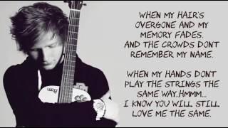 Ed Sheeran   Thinking Out Loud  Lyrics With Music