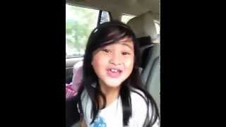Casey Bacayo Sings Domino inside the car