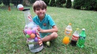 BIG Water Bottle Flip Challenge - Fanta, Coca-Cola, Sprite