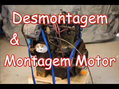 Desmontagem e Montagem COMPLETA MOTOR Clube do Opala Bragança Pta SP