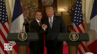 WATCH: President Trump and French President Macron hold joint press conference