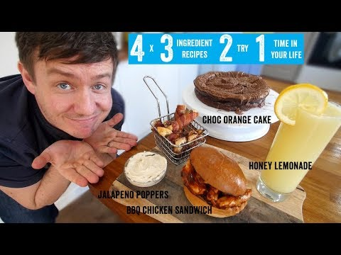 4 x 3 Ingredient recipes 2 try 1 time in your life Part 1