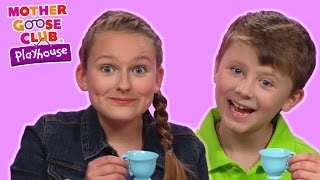 Polly, Put the Kettle On   Real Tea Party with Fun Toys   Mother Goose Club Playhouse Kids Video