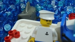 LEGO Shark Attack (Stop Motion) 1080p