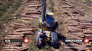 Tigercat 1185 harvester with Clark Tracks CX and Grouzer tracks