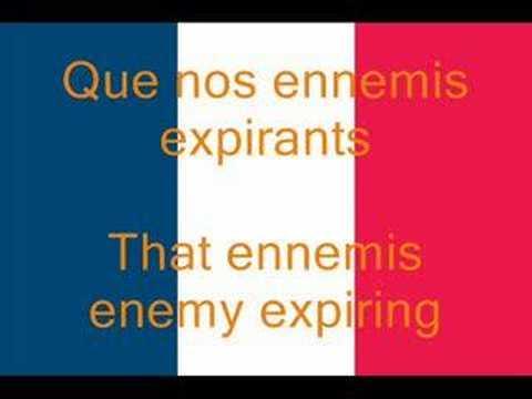 La Marseillaise French National Anthem Fr En