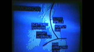 Old Super8 Film ATV BBC Logos & Weather Forecast 10th July 1973