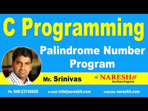 Xxx Mp4 Palindrome Number Program In C C Language Tutorial Mr Srinivas 3gp Sex