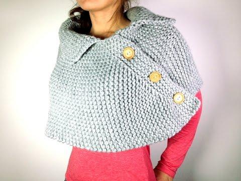 Cómo tejer en telar una capa poncho o mañanita Tutorial DIY