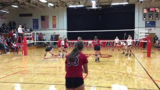 Volleyball 2016 - State Tournament 3A Regional - New Pal vs Ritter   10-25-16