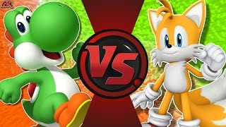 YOSHI vs TAILS! (Mario vs Sonic) Cartoon Fight Club Episode 171