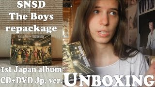 Unboxing - SNSD - The Boys Repackage (CD+DVD) - 1st Japan album rep. (Japanese press)
