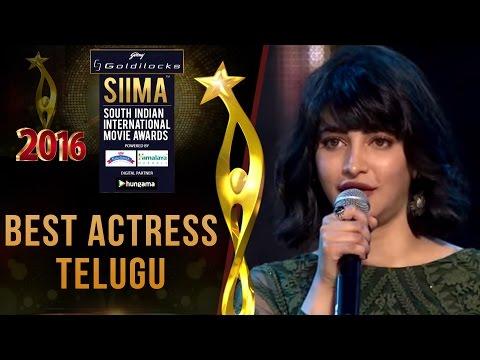 SIIMA 2016 Best Actress Telugu | Shruti Haasan - Srimanthudu
