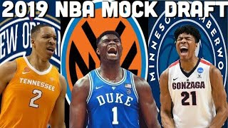 2019 NBA Mock Draft 3.0 (1st Round)