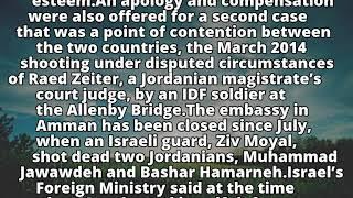 Netanyahu thanks U.S. for helping resolve Jordan crisis