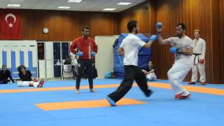 WKF Kumite training with World Champion Muslum Basturk from Turkey