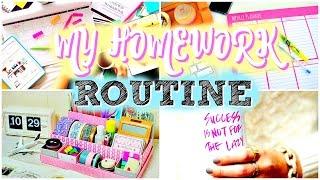MY SCHOOL HOMEWORK ROUTINE | How To Do Your Homework!