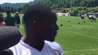 Steelers 2nd-rd WR pick James Washington talks adjusting to NFL