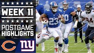 Bears vs. Giants   NFL Week 11 Game Highlights