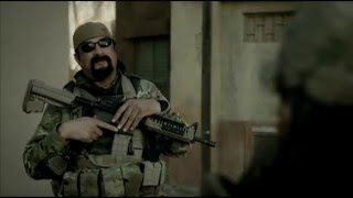 Steven Seagal tries to speak - Sniper: Special Ops (2016)