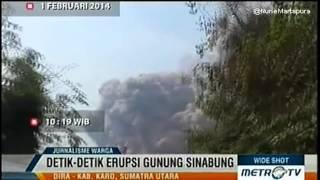 Exclusive Detik Detik Erupsi GUNUNG SINABUNG   Mount Sinabung Eruption 1   2   2014