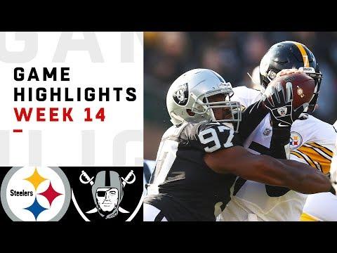 Steelers vs. Raiders Week 14 Highlights | NFL 2018